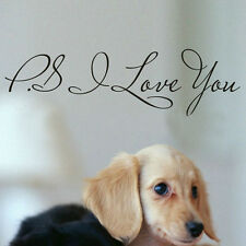 PS I Love You Vinyl New Wall Quotes Stickers DIY Home Art Sayings Decals