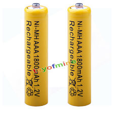 2x AAA 1800mAh pile 1.2V Ni-MH rechargeable batterie 3A jaune pour MP3 Jouet RC