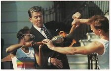 PRESIDENT RONALD REAGAN OLYMPIC TORCH FLAME  Washington DC POSTCARD 1984 Unused