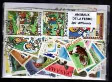 Animales de compañía la granja 200 sellos diferentes matasellados
