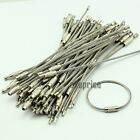 100PCS Stainless Wire Steel Keychains Cable Screw Clasp Key Ring 12cm 4.7