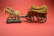 Planwagen Pferdegespann Militär Blech Blechspielzeug  ORIGINAL Dachbodenfund