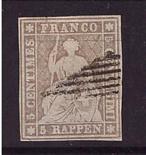 Schweiz, HELVETIA, Mi-Nr. 13 II Aym, gestempelt, geprüft (20710)
