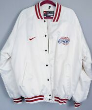 LOS ANGELES CLIPPERS Basketball NIKE SATIN JACKET Puffer Nylon Poly XL white