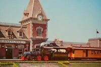 Vintage Postcard Disneyland Entrance With Santa Fe Disneyland Railroad