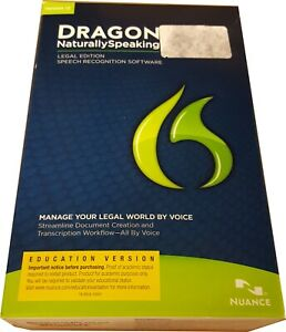 Nuance Dragon NaturallySpeaking Legal 12 - A509AF02120 S T U D E N T Version NEW