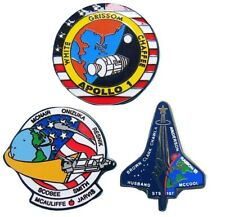 NASA PIN lot Apollo 1 / space shuttle STS-51L Challenger / STS-107 Columbia