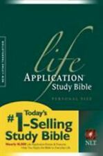 Life Application Study Bible NLT, Personal Size, 2005, Paperback Free Shipping