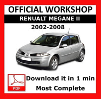 OFFICIAL WORKSHOP Manual Service Repair Renault Megane 2002 - 2008