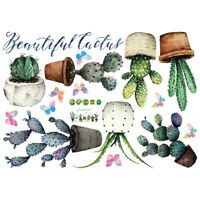 Cactus Bonsai DIY Wall Sticker Living Room Cupboard Window Home Decor Beauty