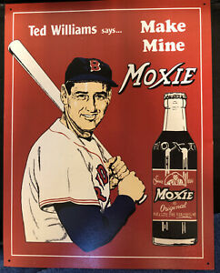 Boston Red Sox Ted Williams Tin Metal Sign : Make Mine Moxie