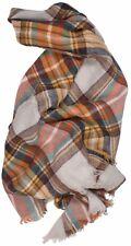 Women Warm Large Oversized Square Long  Blanket Plaid Tartan Pattern Scarf Wrap