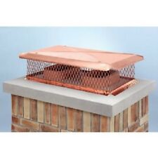 """13630 17"""" x 29"""" Gelco Copper Multi-Flue Cap, 3/4"""" Mesh"""