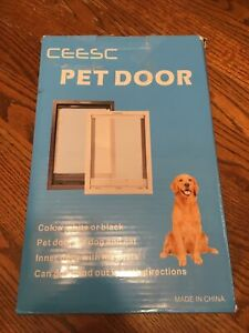 PET SCREEN DOOR Snap-in Closing Panel Magnetic Flap for Dog Cat Large CEESC