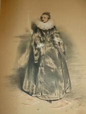 LITHOGRAPHIE FRAGONARD 1840 / LA CAMARERA-MAYOR  XVIIe
