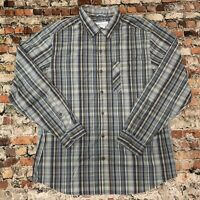 Columbia Men's Size L Gray Plaid Button Front Long Sleeve OMNI-WICK Shirt #15C7