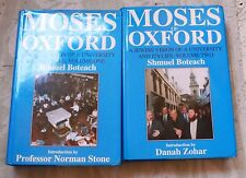 Moses of Oxford 2 Vol. Set by Shmuel Boteach /Signed/1995/1st /Jewish