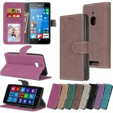 For Nokia Samsung ZTE Smart Phone Wallet Card Matte Leather Case Cover Skin / DK