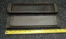 Vintage Carpenters Sharpening Oil Stone In Wooden BOX