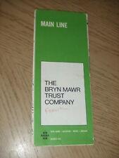 VINTAGE 1970s PROMO Bryn Mawr Trust Main Line Area Pennsylvania City Street Map