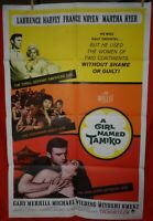 1 Vintage One Sheet Movie Poster for A Girl Named Tamiko, 1962, Laurence Harvey