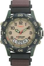 Timex T45181 Expedition Analogue Display Men's Quartz Watch & Brown Nylon Strap