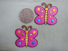 Butterfly Pink Motifs x 2  (M427)