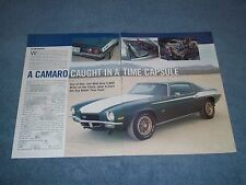 """1970 Dick Harrell LS6 SS 454 Camaro Article """"Caught in a Time Capsule"""""""