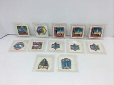 New ListingLot (12) Original Kellogg's Cereal Premiums Stickers Space 1960's Apollo Gemini