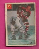 1954-55 PARKHURST # 85 HAWKS LARRY WILSON CREASED CARD  (INV# A9265)