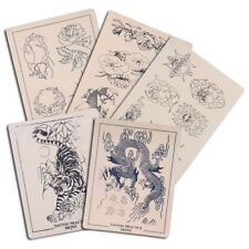 """5pcs Assorted Tattoo Practice Skin For Needle Machine Supply Mix Sheets 8x6"""" Kit"""
