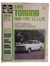 GM Holden Torana 1600-1860 LC, LJ, TA 1971-1975 Service and Repair Manual