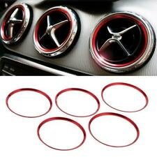 5Pcs Car Air Vent Outlet Ring Cover Trim For Mercedes Benz A/B/CLA/ GLA Class