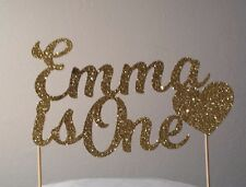 PERSONALISED Custom Glitter Birthday Cake Topper with Name & Age plus shape