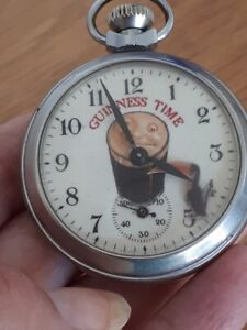 Vintage collectable Guinness toucan advertising automation pocket watch