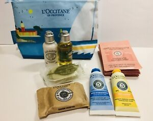 Loccitane Travel Kit 17 Items Hair Body Soap Pouch - New!