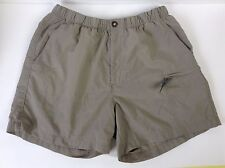 Womens The North Face Khaki Brown Nylon Zip Cargo Hiking Camping Shorts~M