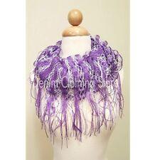 Women's Net Crochet Fishnet infinity Knit Scarf  Wrap Shawl Stole Winter Scarves