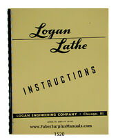 "LOGAN 14/"" Metal Lathe 6560 Parts List Manual 0454"