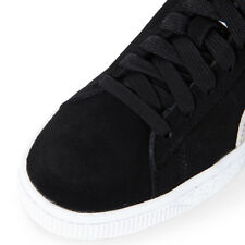 PUMA Suede Classic Lace up Black White Mens Leather Trainers 352634 03 M11 UK 5