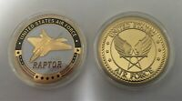 USAF Air Force F-22 Raptor Stealth Fighter Lockheed Challenge Coin (Skunk Works)
