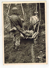 Mint WW 2 Germany Waffen SS Postcard Nord Division Karalia Wounded Soldier Horse