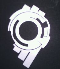 Ghost In The Shell S.A.C. Section 9 Vinyl Sticker SILVER GLOSS 8 x 5.3cm