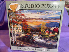 """NEW Bits And Pieces 500pc Studio Puzzle """"Golden Sunset"""" John Zaccheo"""