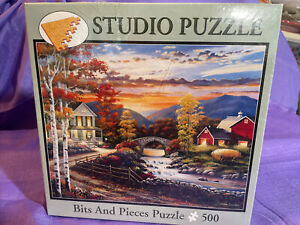 "NEW Bits And Pieces 500pc Studio Puzzle ""Golden Sunset"" John Zaccheo"