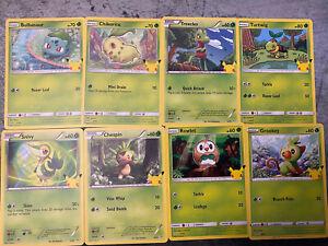 2021 Pokémon NON HOLOGRAM CARD Complete Set McDonald's SHIPS Next Day 25/25