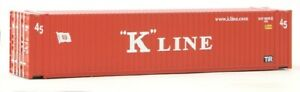 Walthers # 8563 45' CIMC Container - Assembled K-Line (red, white) HO Scale MIB