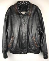 BAINTON Men's Black/ Brown GENUINE LEATHER Jacket Size L