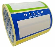 Name Tag Labels Hello My Name Is Stickers Assorted Colours 3 Colours School Of
