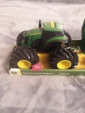 John Deere Tractor with Loader and Wagon Set Monster Treads ~ New in Package